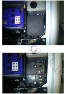 محل نصب نود FN SMS در خودرو های سمند ، سورن و دنا